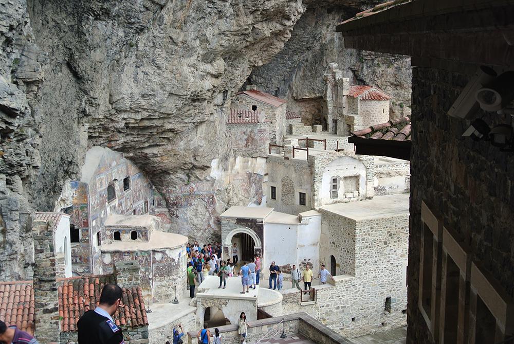 Sümela Manastırı'nın içi