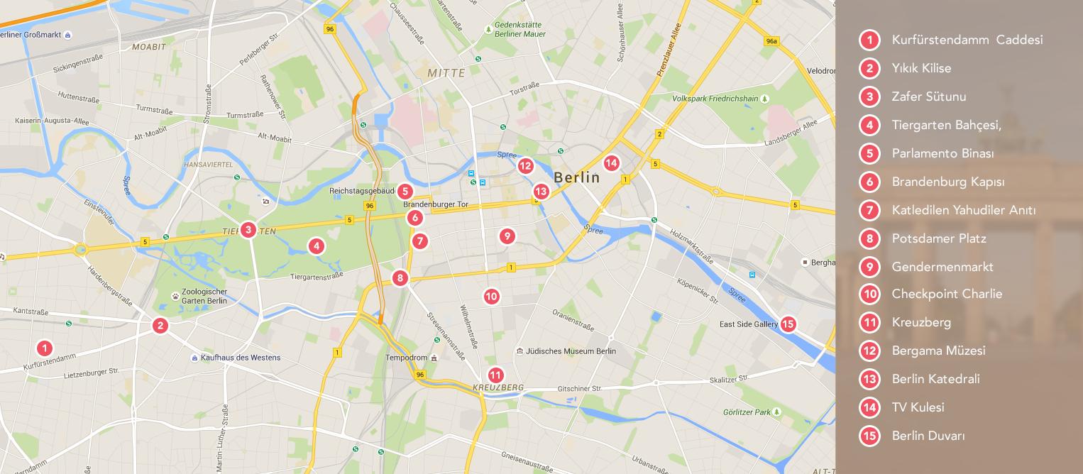 Berlin Turist Haritası