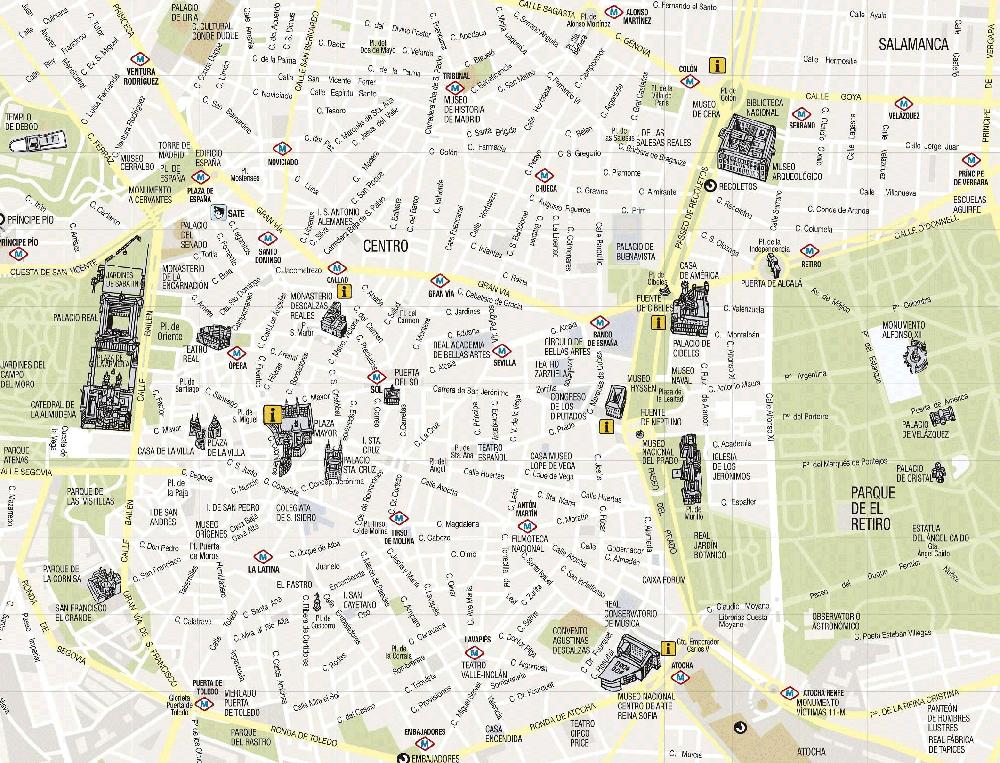 Madrid Turist Haritası