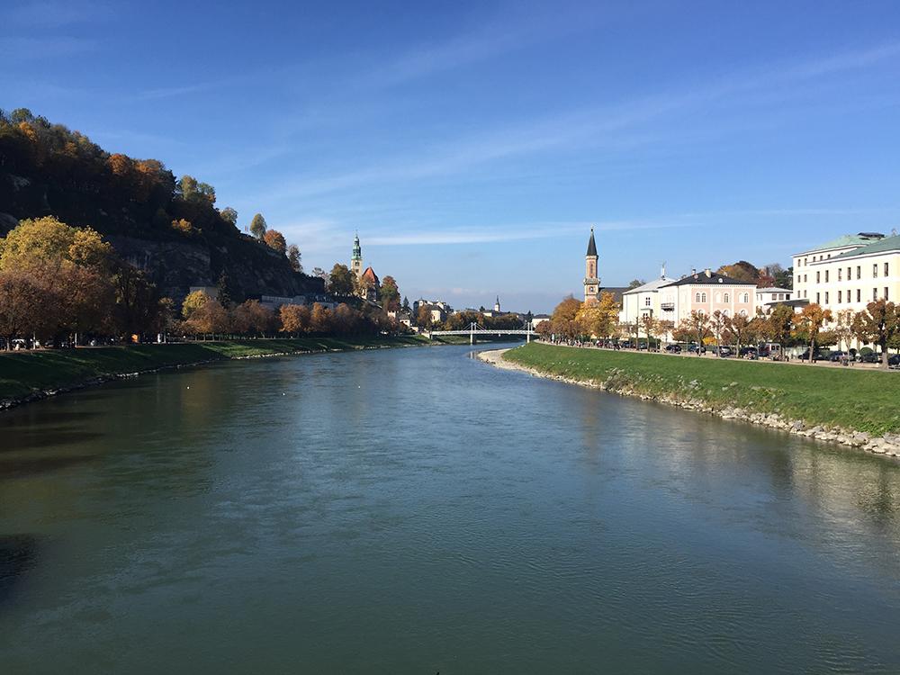 Kilitli köprüden Salzburg..