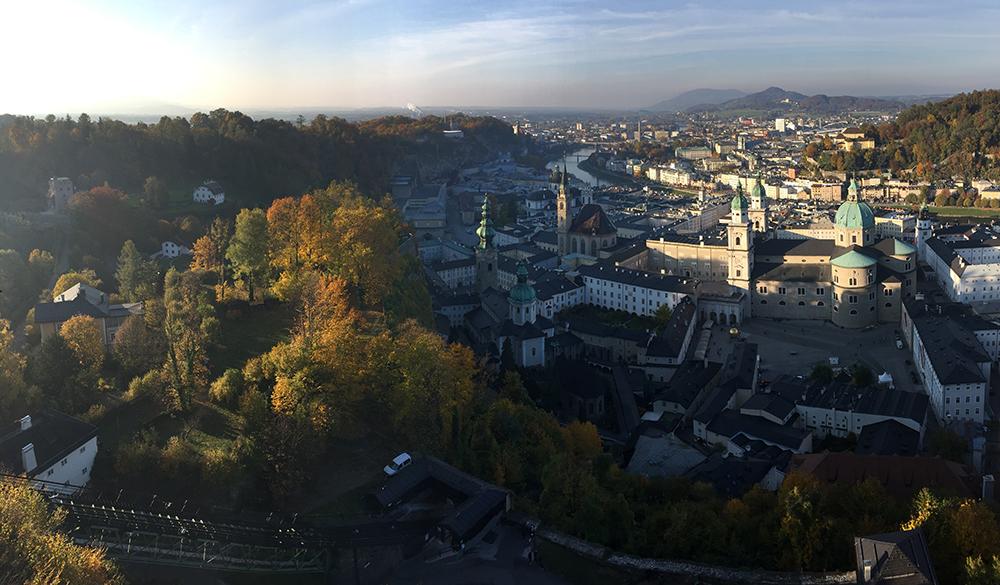 Kaleden Salzburg manzarası