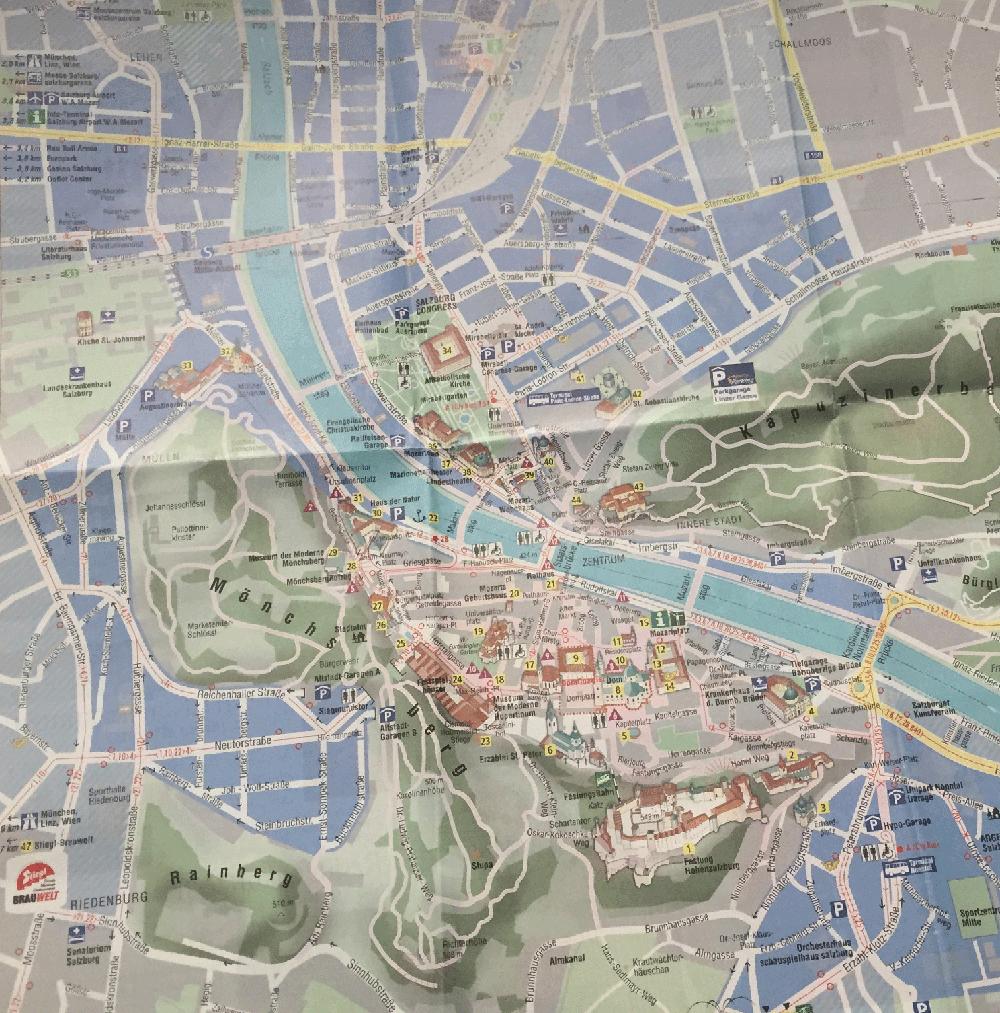 Salzburg turist haritası