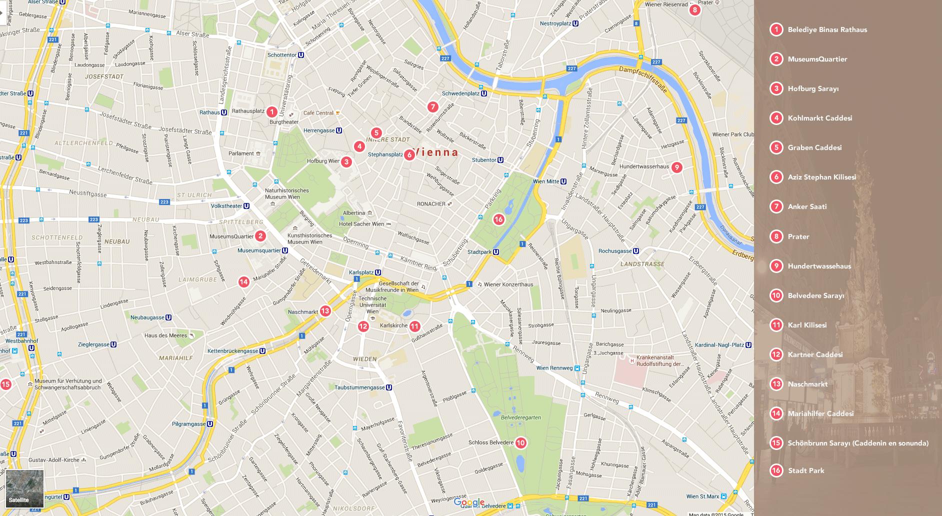 Viyana Turist Haritası