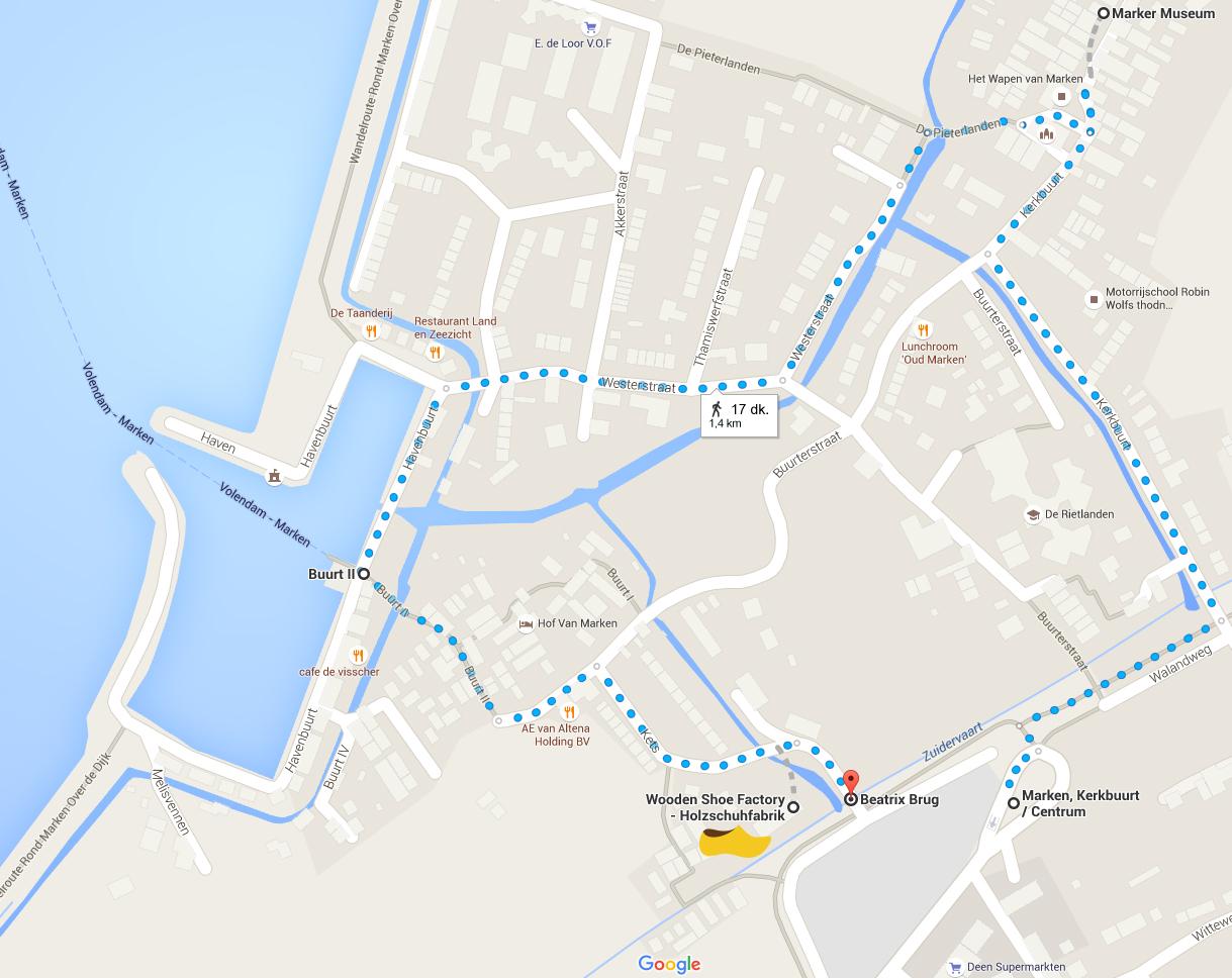 Marken Turist Haritası