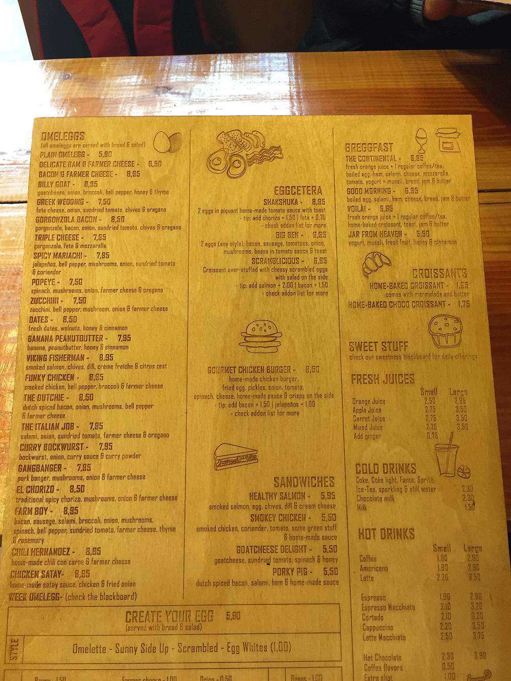 Omelegg menüsü
