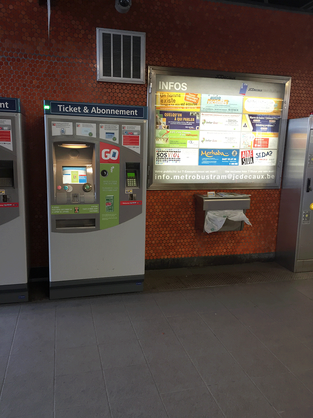 Günlük bilet alınabilen makinalar