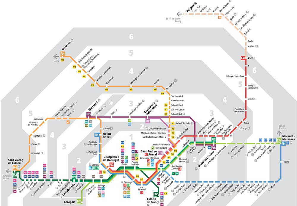 Barselona Zone Haritası