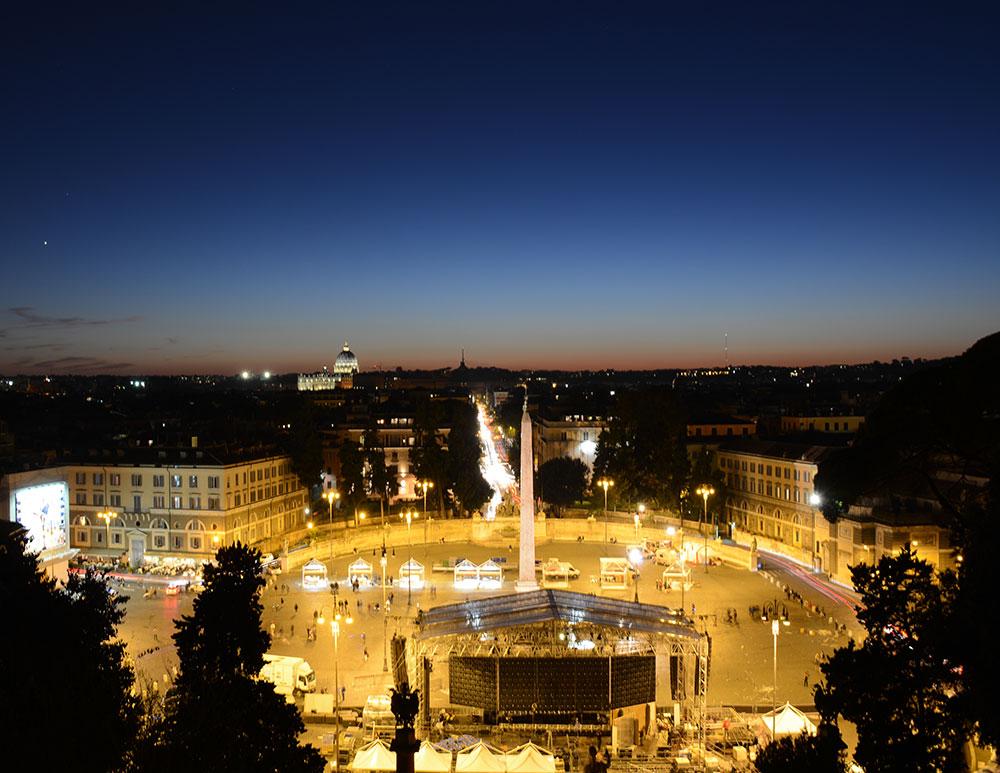 Parktan Piazza Del Popolo manzarası
